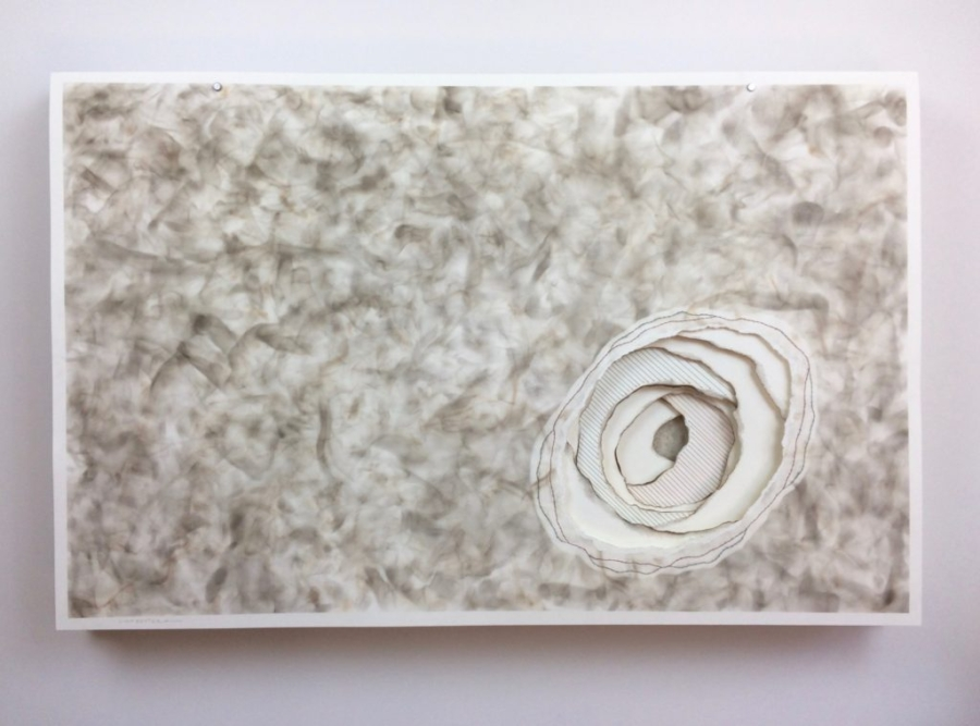 Torn Paper | Embroidery | Fumage (smoke drawing)